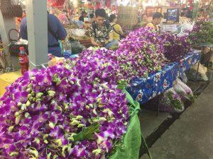 Blumenmarkt in Bangkok Pak Khlong Market
